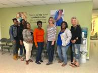 The latest class of Healthy Mothers, Healthy Babies teen mom mentors.